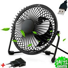 Ventilador de Mesa 19 cm USB y Corriente Metalico Aspas de Acero 50Hz 220v 240v