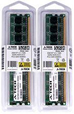 Atech 2gb Kit Lot 2x 1gb Pc2-3200 Ddr2 3200 Ddr-2 400mhz 400 Desktop Memória Ram