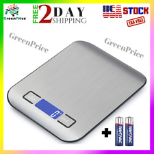 Digital Kitchen Food Scale 11lb/0.035 oz 5kg/1g Slim Electronic Stainless Steel