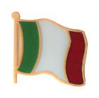 Italy Wavy Flag Pin Badge