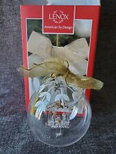 Lenox Crystal Wonder Nativity Glass Ball Christmas Tree Ornament New in box