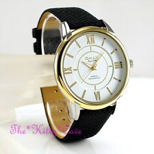 OMAX Slim 2tone Gold PL SEIKO Y121 Movt Classic Gents Swiss Dress Watch La01t32i