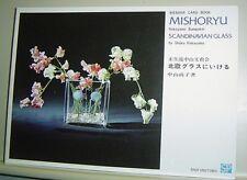 IKEBANA CARD BOOK Mishoryu Nakayama Bumpokai SCANDINAVIAN GLASS Shoko Nakayama