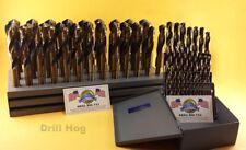 "62 Pc Silver & Deming Drill Bit Set 1/16"" to 1"" Drill Hog USA Lifetime Warranty"
