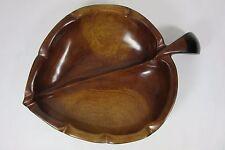 Vintage Handcarved Haitian Mahogany Wooden Leaf Shaped Bowl Sydney Farber & Son