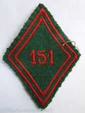 Losange tissu Losange 45 Patch modèle 1945 - 151° TRAIN   ORIGINAL