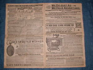 CIRCA 1897 BICYCLE BUGGY SHOTGUN ADS FOR CATALOGUE DIST