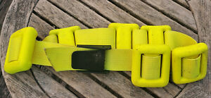 Sea Pearls Bright Yellow Coated 15lb Weight Belt ( 6 x 2.5lbs each) Dive Weights