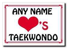 Amor Corazón Taekwondo Personalizada Jumbo Imán