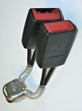 VW Polo Seat Belt Buckle Double Middle Rear Black 2005 to 2010 6Q0 857 488 B