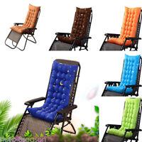 Deck Chair Cushion Thicken Outdoor Garden Recliner Lounge Soft Seat Mat Padded