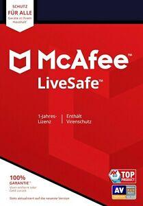 McAfee LiveSafe 2021 I Unlimited Geräte - 1Jahr   GLOBAL KEY ✅NEU  BLITZVERSAND✅