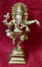 Handmade Ganesha Kathakali Dancing Sculpture Antique Style Home Decorative VR701
