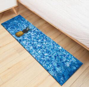 Clear Water Pineapple Kitchen Mat Non-Slip Carpet Kids Bedroom Floor Area Rugs