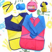 1x/2x Kid Girl Boy Children Simple Bib School Apron Art Paint Smock Shirt S/M