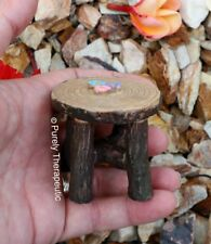 MINIATURE WOODEN TABLE GARDEN FURNITURE Figurines Plants Doll House Fairy