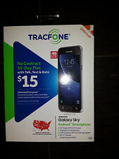 Tracfone Samsung Galaxy Sky 4G LTE bonus with 1350 Min Text Data for 1 Yr year