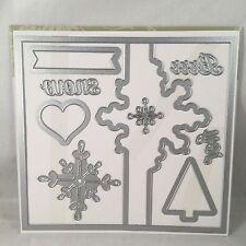 SNOWFLAKE CARD THINLIT Stampin Up Flip Card Tree Brrr Snow Big Shot