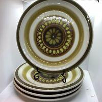 """4 Vintage Acsons Stone Ware Salad Plates Sarasota #8529 Japan 7.5"""""""