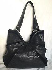 Large Kooba Black Leather Tote Shoulder Bag Handbag