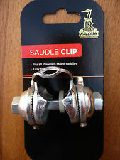 Raleigh Saddle Seat Guts Clip Silver Steel adjustable Bike Bicycle Cycle Chrome
