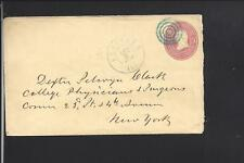 ROCKFORD, ILLINOIS, 1861 3CT PINK COVER TO NEW YORK CITY.