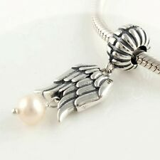 Ángel wings-fairy- ORIGINAL macizo pulsera de plata esterlina 925 Cuenta Charm /