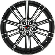 4 GWG Wheels 22 inch Black Machined FLOW 22x10.5 Rims fits 5x120 ET25 CB74.1