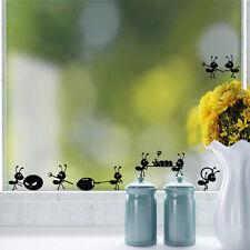 Window Stickers Cute Small Ants Children Cartoon Mirror Glass Wall Decal Sticker