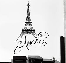 Wall Decal Paris Eiffel Tower France Romantic Sticker For Living Room (z2845)