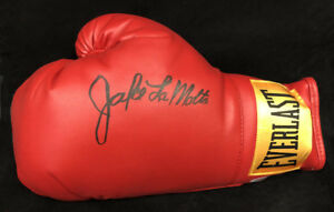 Jake LaMotta SIGNED Everlast Boxing Glove The Raging Bull PSA/DNA Autographed
