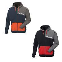 Polaris Mens Full Zip Color Block Hoodie Classic Fit Casual Hooded Sweatshirt