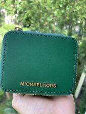 Michael Kors NWT  Giftables Small Jewelry Case Leather Jewel Green