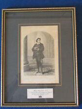 Royal Shakespeare Company - Vintage Framed Print - Henry Irving as Hamlet
