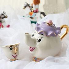 Mrs Potts Beauty And The Beast Teapot Cartoon Mug Chip Tea Pot Cup Gift Set