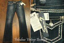New SEVEN Dark Wash Baby Boot Cut Denim Jeans Stretch Pants Embellished Studs 25