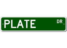 PLATE Street Sign - Personalized Last Name Signs