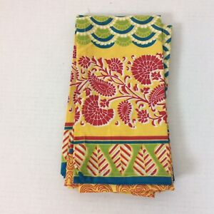 Set Of Four Pier 1 Imports Napkins Chromatic Global Print 20 x 20 Inch Square