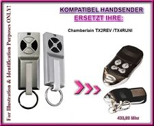 Chamberlain TX2REV / TX4RUNI kompatibel handsender, Ersatz fernbedienung