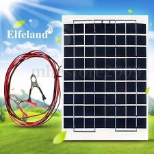 Elfeland 10W 12V Cell Solar Panel Module Battery Charger Boat Camping 4M Cable