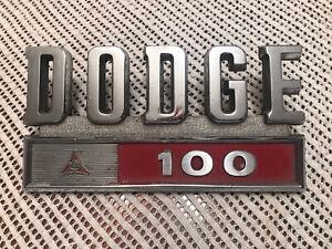 1968 1969 1970 1971 Dodge D100 fender emblem Nice !