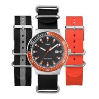 Orologio + 2 Cinturini TIMEX UG0108 Tessuto Colorato Nero Arancione INDIGLO