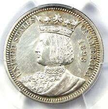 1893 Isabella Quarter 25C - PCGS AU Details - Rare Certified Commemorative Coin