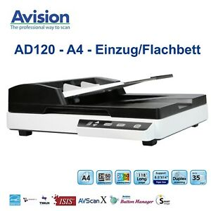 Avision AD120 - A4 - Einzug / Flachbett Scanner (35er ADF) - USB - Twain & ISIS