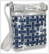 New 2017 Rectangular Bling Rhinestone Design Crossbody Messenger Sling Handbag