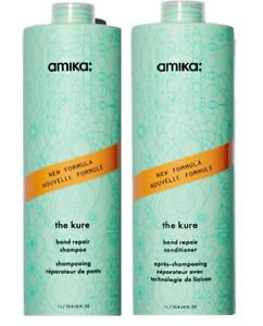 AMIKA The Kure Bond Repair Shampoo and Conditioner, 33.8oz