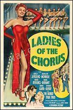 MARILYN MONROE - 1948 - LADIES OF THE CHORUS - 12X18 INCH MOVIE POSTER