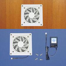 Mega-fan Enclosed Cabinet AV Cooling fan (white model)/multi-speed/Home Theater