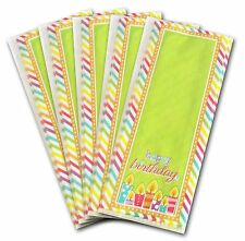 50 x GREEN HAPPY BIRTHDAY CELLOPHANE BAGS Candy Treat Party Gift Sweet Cello Bag