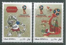Lebanon 2018 MNH Football FIFA World Cup Russia, Wolf Zabivaka Mascot & Kremlin